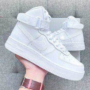 🤍 Nike Air Force 1 high top triple white